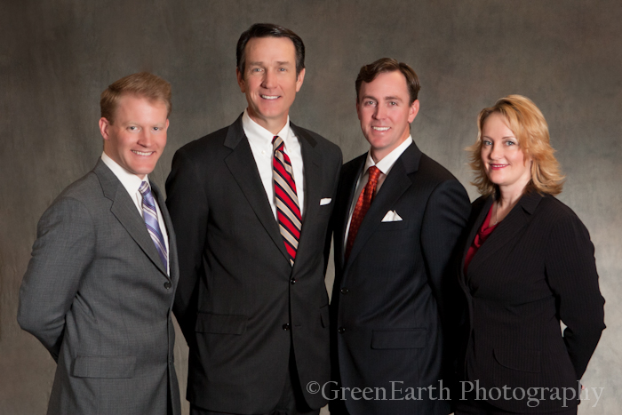 Professional business group portrait